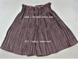 FRHS9011 rok plise/ruit  roze  (6pcs)