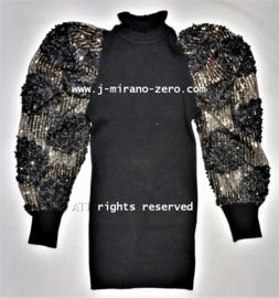 FRY8006 jurk zwart  (6pcs)