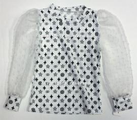 FRKU5319 blouse WIT (6pcs)