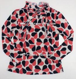 ZM5282  shirt polokraag  HEARTS  (7pcs)
