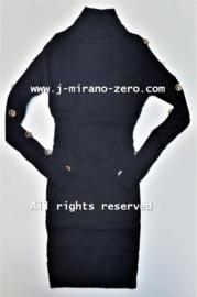 FRHS2630 jurk  ZWART   (6pcs)