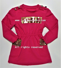 FRart3996 jurk FUCHSIA (6pcs)