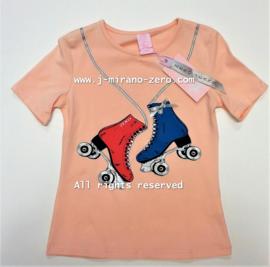ZM3907 rollerskateshirt roze (7pcs)