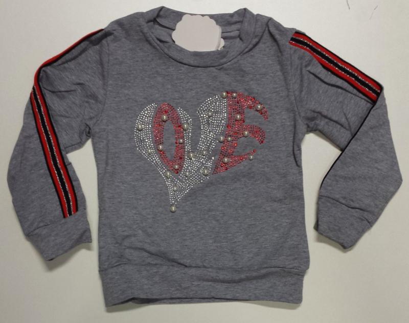 FRKS8178 Sweater grijs (6pcs)