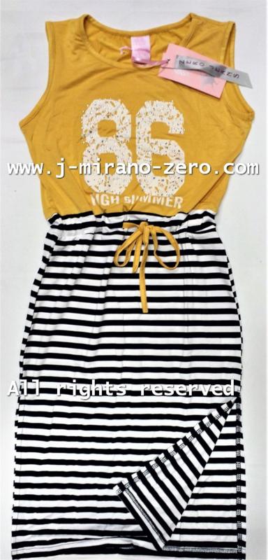ZM5133 maxi jurk oker (6pcs)