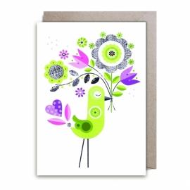 Green bird bouquet