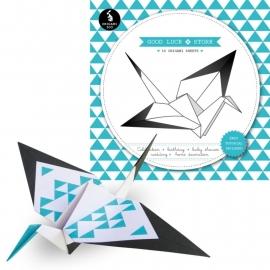 Origami vouwblok mint