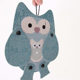 MOW Objetos Paper animal Olga owl