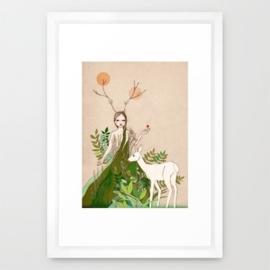Woodland  deer girl