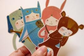 Minifanfan Sticker set The Musicians
