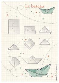 Origami bateau - vert