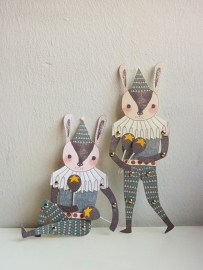 Minifanfan Paper doll set Mr. Rabbit