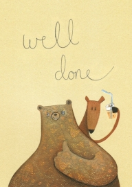 """Well done!"" said bear, its time to celebrate!"