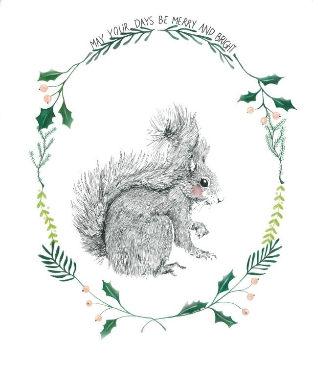 Eekhoorn kerst