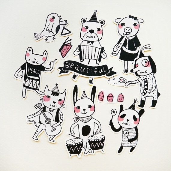Minifanfan Sticker set The Animals Band