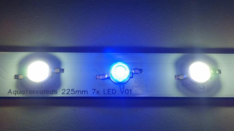 Wit/ blauw 10000K  LED strip 7.2 watt