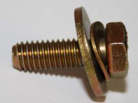 Tapbout M6x18 met ring (Nieuw verzinkt)