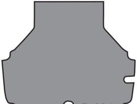 Kofferbakmat 2002 sedan standaard, zwart (Repro, Nieuw)
