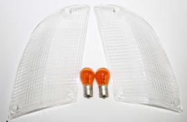 Knipperlicht lenzen set clear (Nieuw)