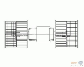 Heatermotor (black, L=268mm)