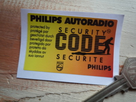 Philips Security Code 45x70mm raamsticker (Nieuw)