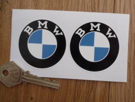 """""""BMW"""" sticker vroeg model d=50 mm (2 stuks, Nieuw)"""