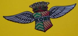 """""""Koni"""" sticker King Wings zilver 40x18 mm (4 stuks, Nieuw)"""