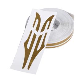 Pinstriping goud dubbel (Repro, Nieuw)