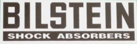 """""""Bilstein"""" sticker 50x12 mm Zwart-Wit (4 stuks, Nieuw)"""
