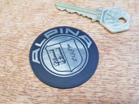 """""""Alpina"""" logo, aluminium look, self adhesive, 25mm (New)"""