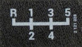 Getrag overdrive schakelpatroon sticker 38x20mm (Nieuw)