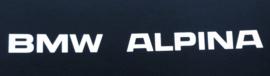 """""""BMW Alpina"""" tekst vroeg model 200x12 mm (2 stuks, Nieuw)"""