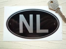 NL zwart 125x75mm (Nieuw)