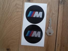 """""""M"""" sticker zwart d=68 mm (2 stuks, Nieuw)"""