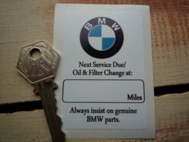 BMW Service sticker 50x72 mm (Nieuw)