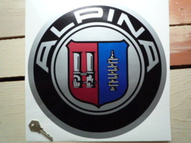 """Alpina"" sticker chrome d=300 mm (Nieuw)"