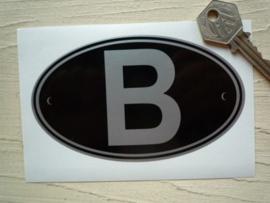 B zwart 125x75mm (Nieuw)