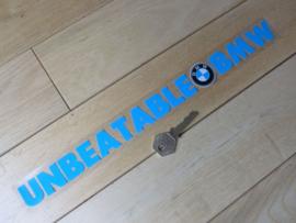 """Unbeatable BMW, Windowsticker """"Face stick"""" 37x350mm (New)"""