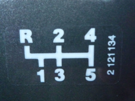 Getrag dogleg schakelpatroon sticker 38x20mm (Nieuw)