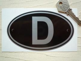 D zwart 125x75mm (Nieuw)