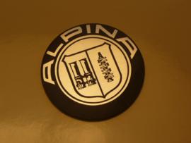"""Alpina"" logo, aluminium look, magnetic, 50mm (New)"