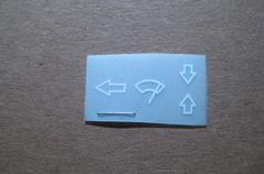Sticker voor ruitenwisserhandle (Repro, Nieuw)