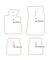 Mattenset M3 Luxe Velours, diverse kleuren (Nieuw)