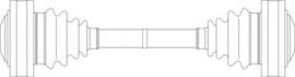 Aandrijfas M30 (525-528i)