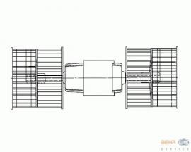 Kachelmotor (Rood, L=281mm)