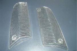 Knipperlicht glazen wit set (Nieuw)