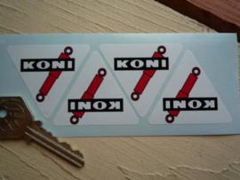 """Koni"" sticker driehoek 30x27 mm (4 stuks, Nieuw)"