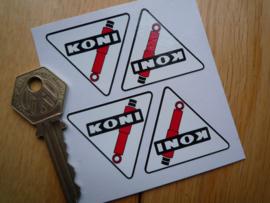 """""""Koni"""" sticker driehoek met zwarte lijn 40x36 mm (4 stuks, Nieuw)"""