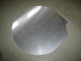 Reservewiel afdekplaat aluminium (Nieuw)