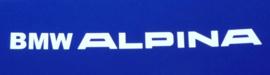 """""""BMW Alpina"""" tekst laat model 200x12 mm (2 stuks, Nieuw)"""